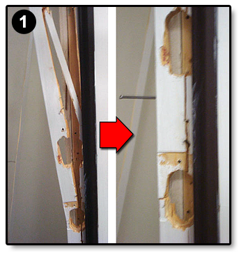 Safe Homes International - Broken Door Frame Repair