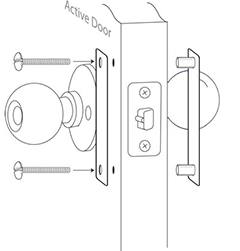 Insert the outdoor-half of the Door Edge Pro reinforcement plate (with two protruding studs) into the newly drilled holes on the outside of the door.  sc 1 st  Safe Homes International! & Safe Homes International - Door Edge Pro Installation pezcame.com