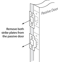 Remove Door Latch Bolt And Dead Strike Plate Hardware From Pive Do Not Weather Stripping The